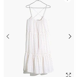 Madewell Tiered cover up dress in rainbow clipdot